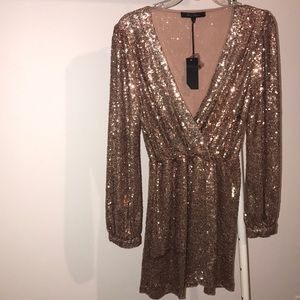 New Sequin rose gold dress